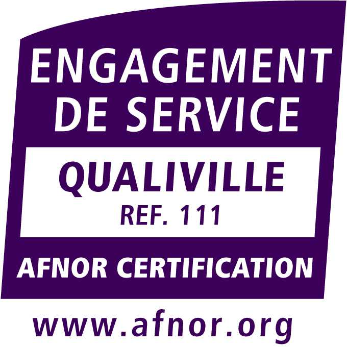 logo certification Qualiville violet